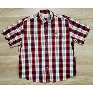 Carhartt Mens S116 - Snap-Front Red Plaid Shirt XL